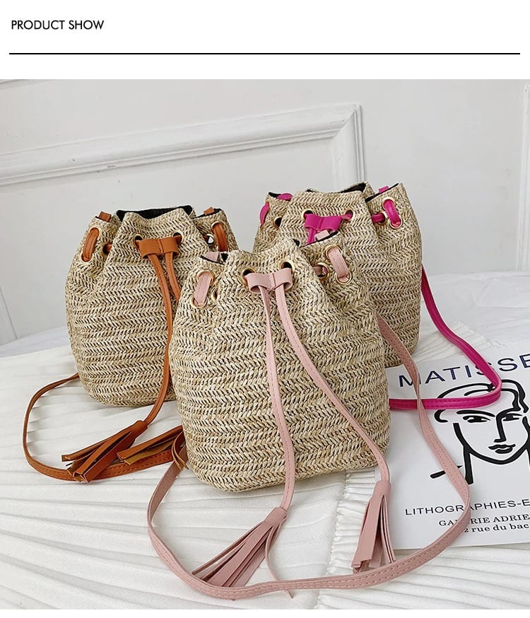 Where designer straw bags collection value