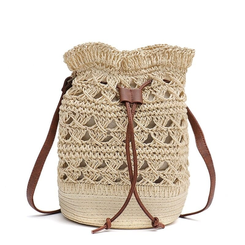 When summer rattan crossbody bag and totes