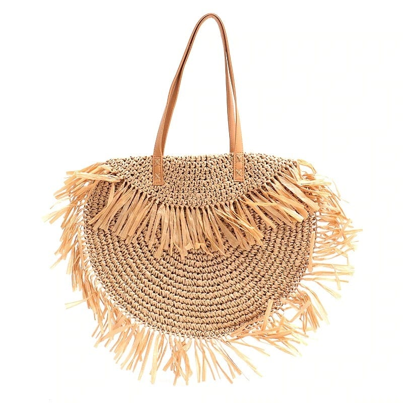How much khaki wicker tote bag recomment