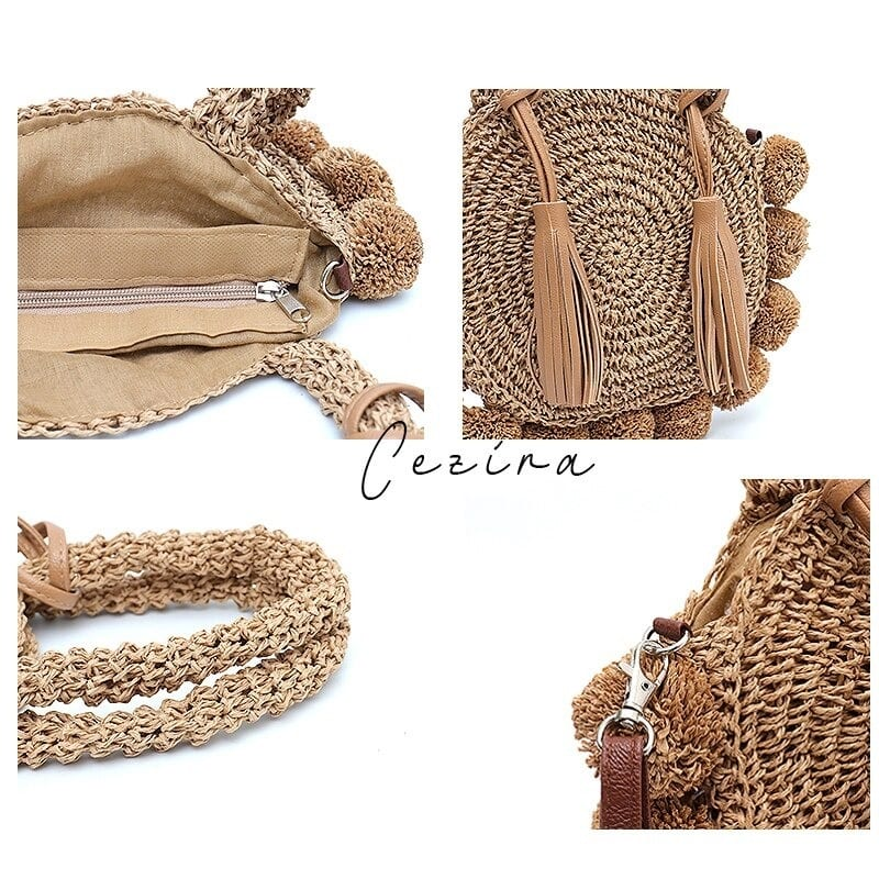 How much half moon woven clutch 2021