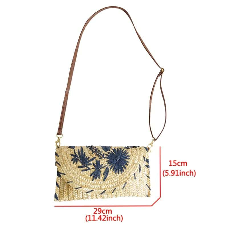 Bali straw shoulder bags suggest