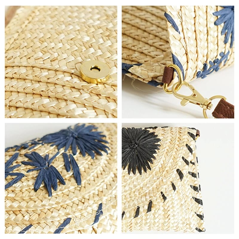 Straw handbag for summers handmade good