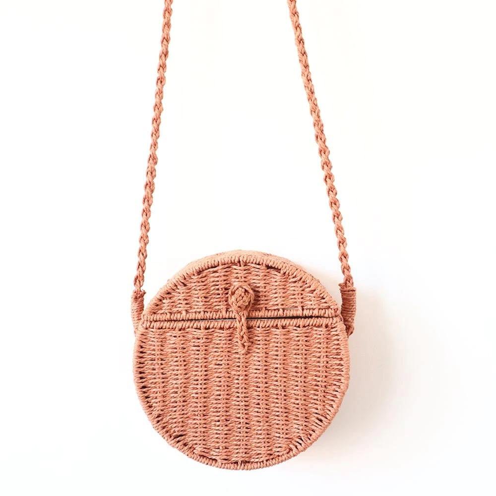 Why half moon woven leather tote top