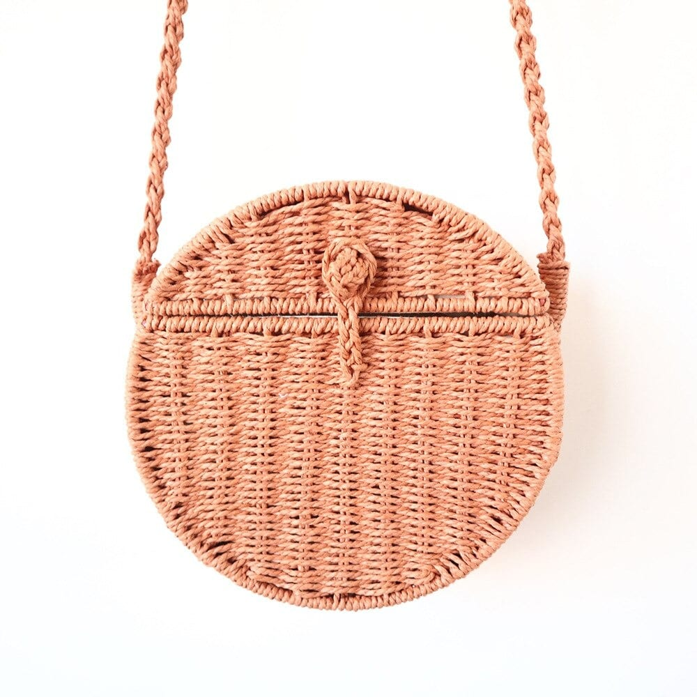 How navy wicker beach bag premium