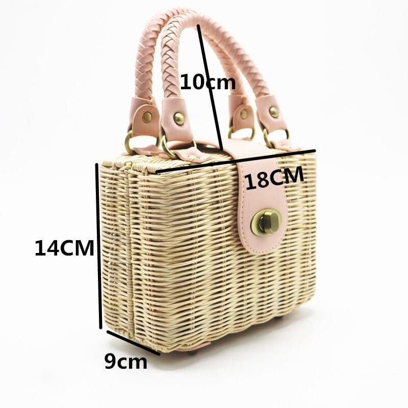 Buy straw and leather handbags online