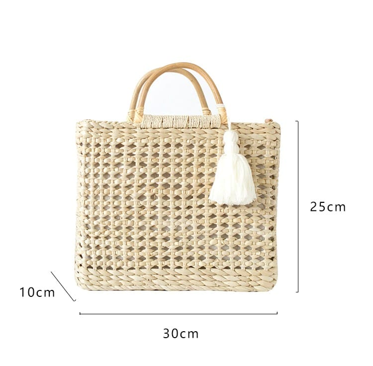 Solid large straw bag good