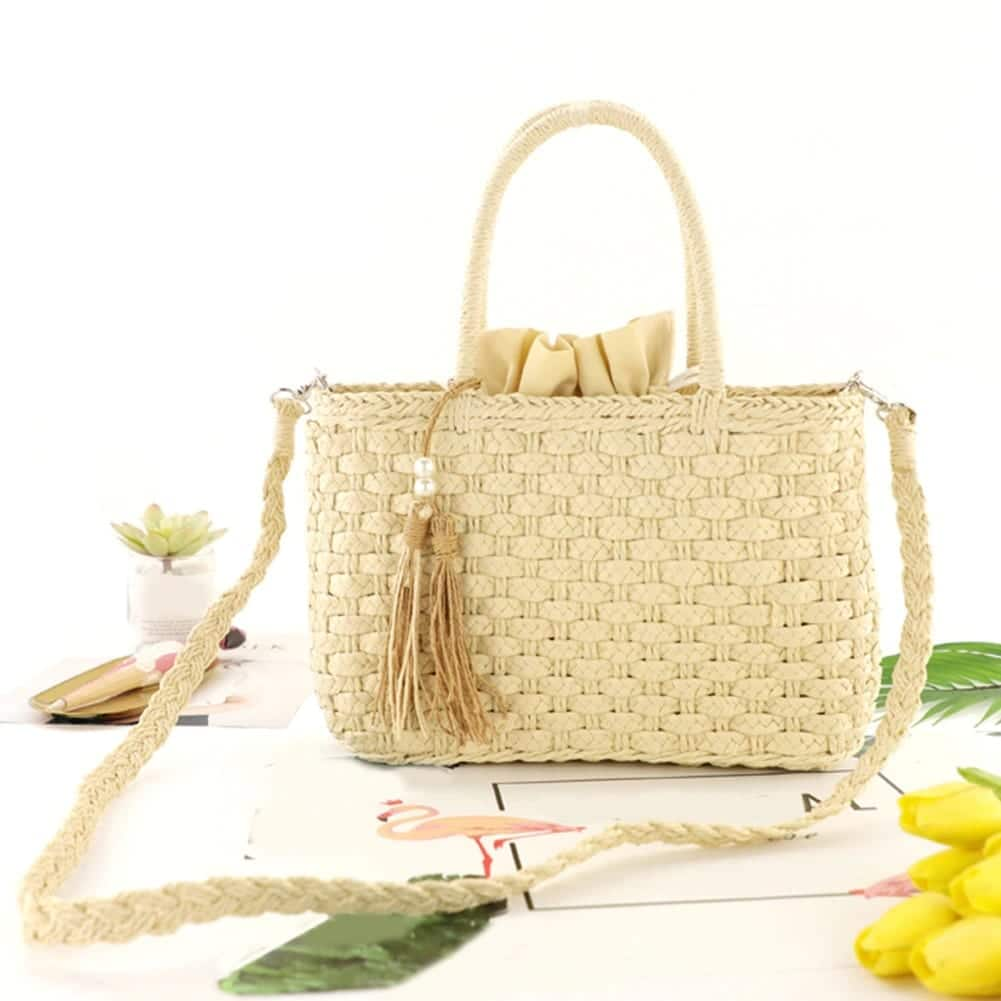 What summer rattan tote bag and totes good