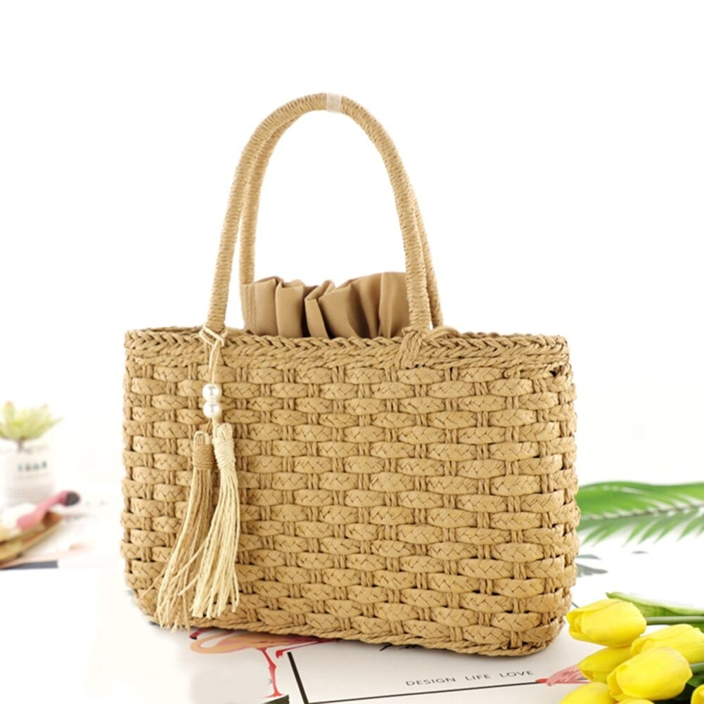 Why navy large straw tote best