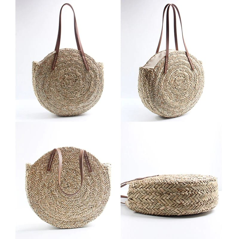 How much small woven black straw bags
