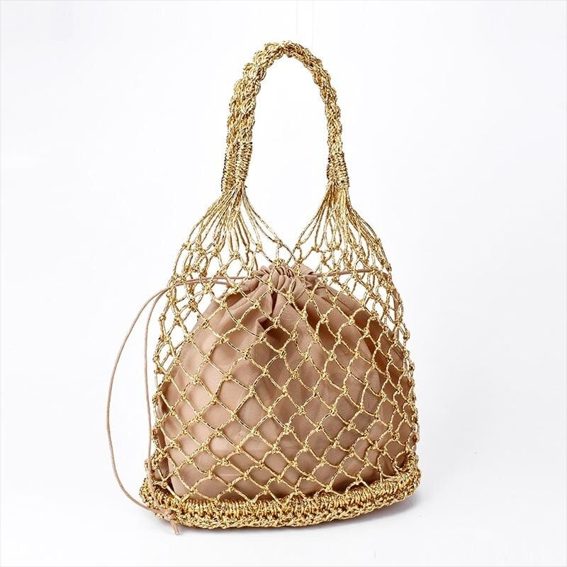 How circle straw bag online