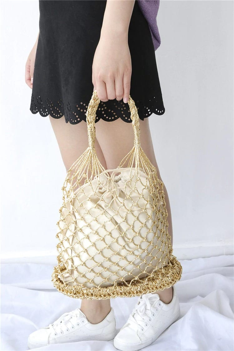 High-end straw woven bag