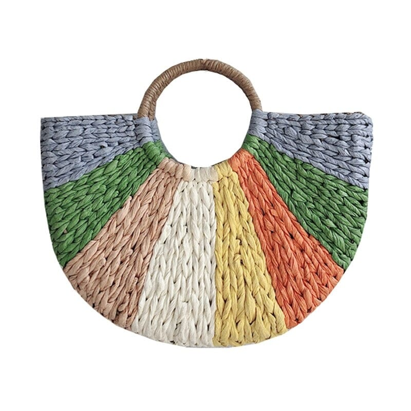Why handicaft straw tote handbag