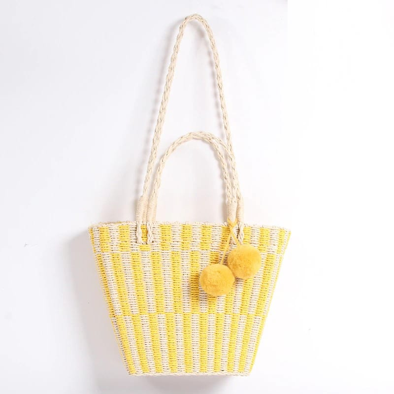 Chain woven leather tote