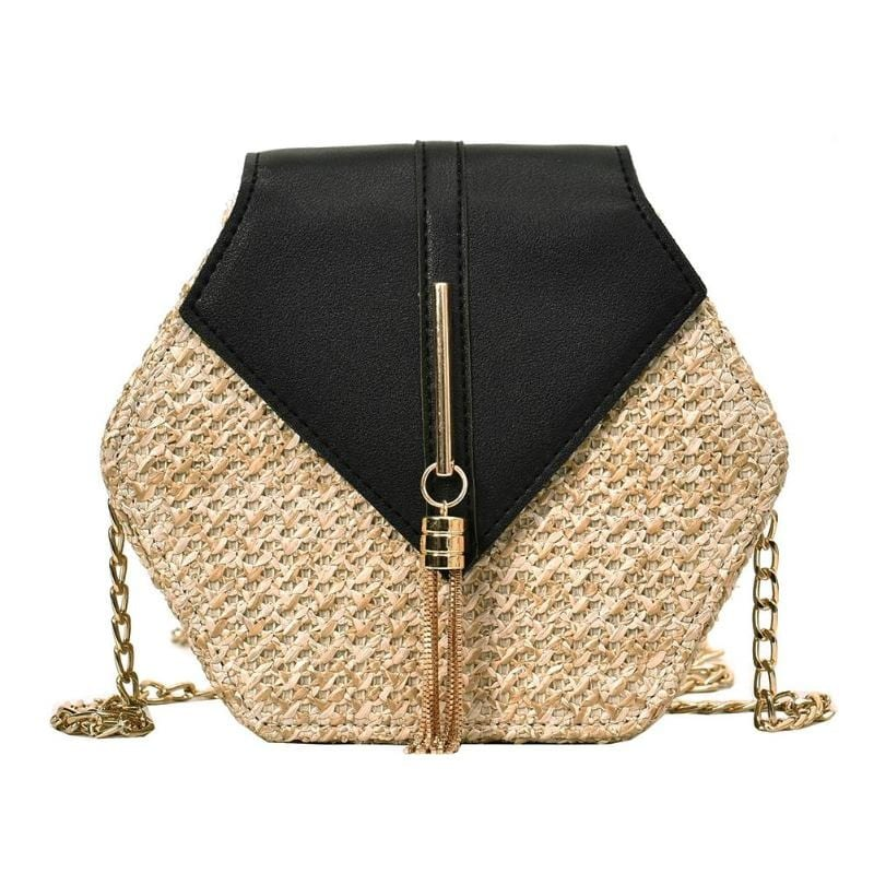 Which woven leather handbags clutch