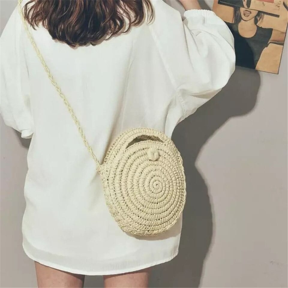 How much quality oversized straw beach bag