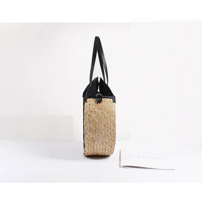 How long cute straw basket bags premium