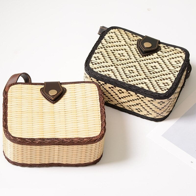 Straw woven bags online shop best