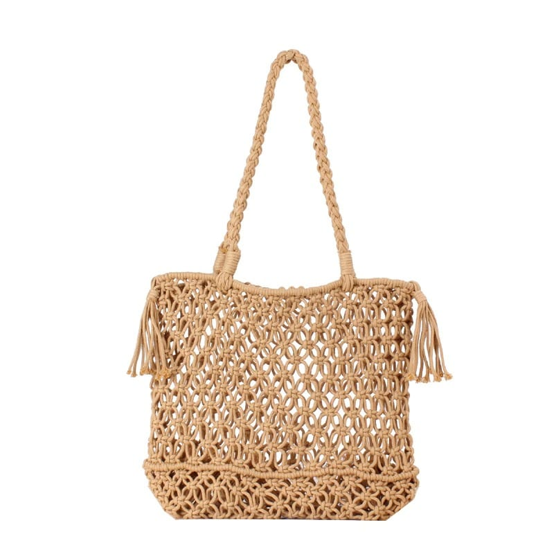 When lined straw backpack
