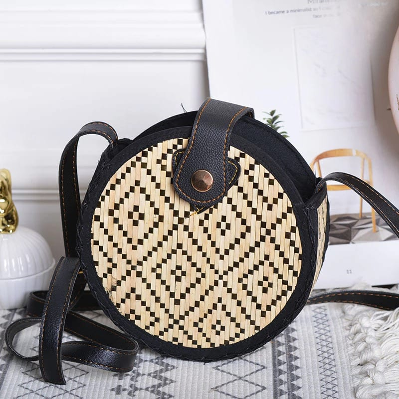 Rattan purses in bali top