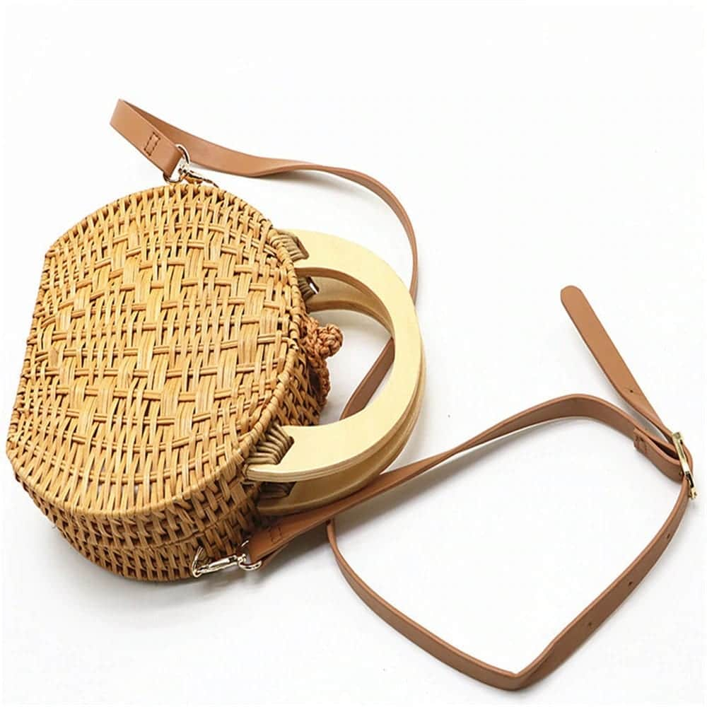 How long sustainable straw purse top