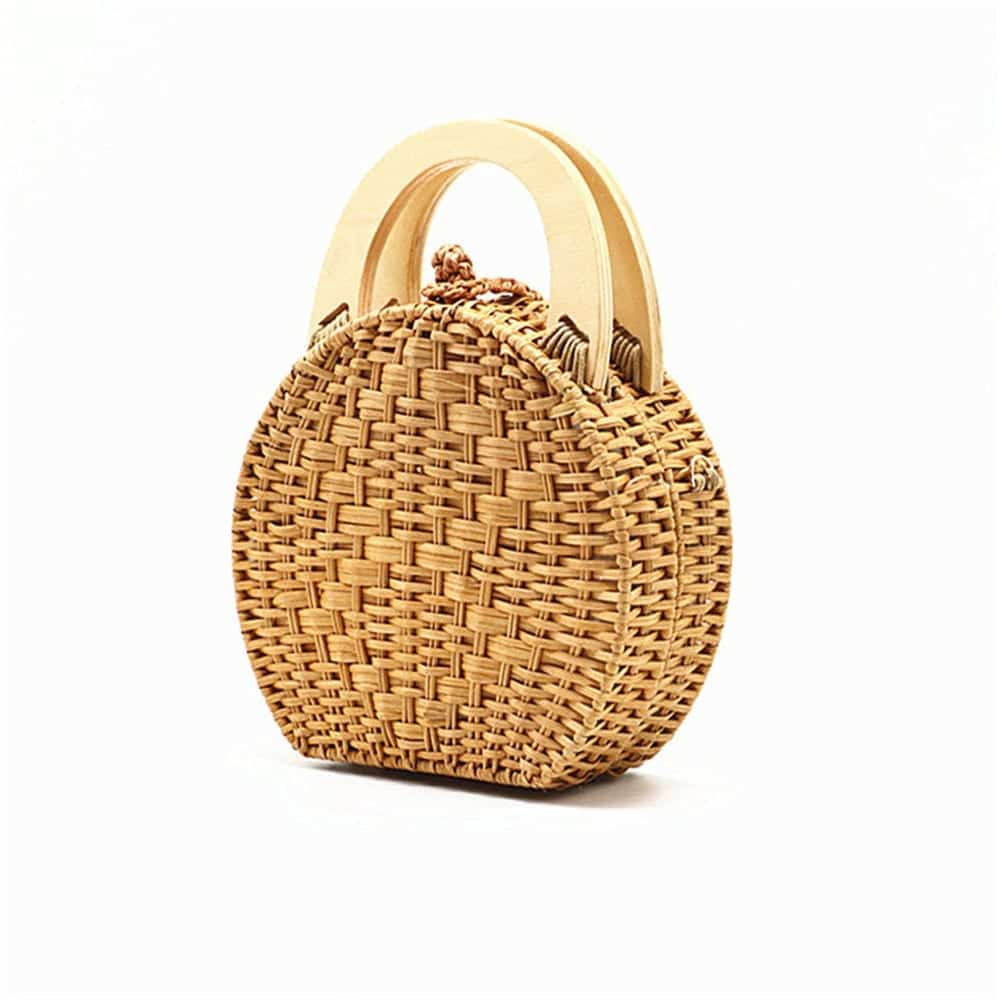 Why woven straw backpack