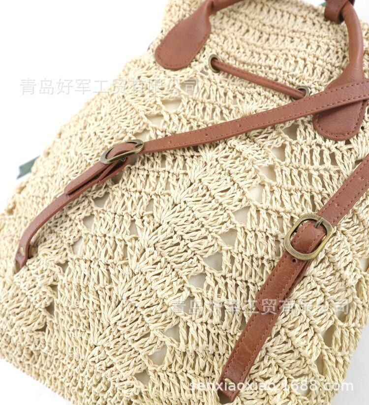 When knitted woven handbag top