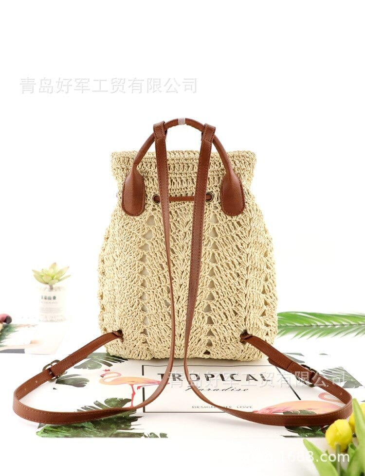 Straw backpack sale suggest
