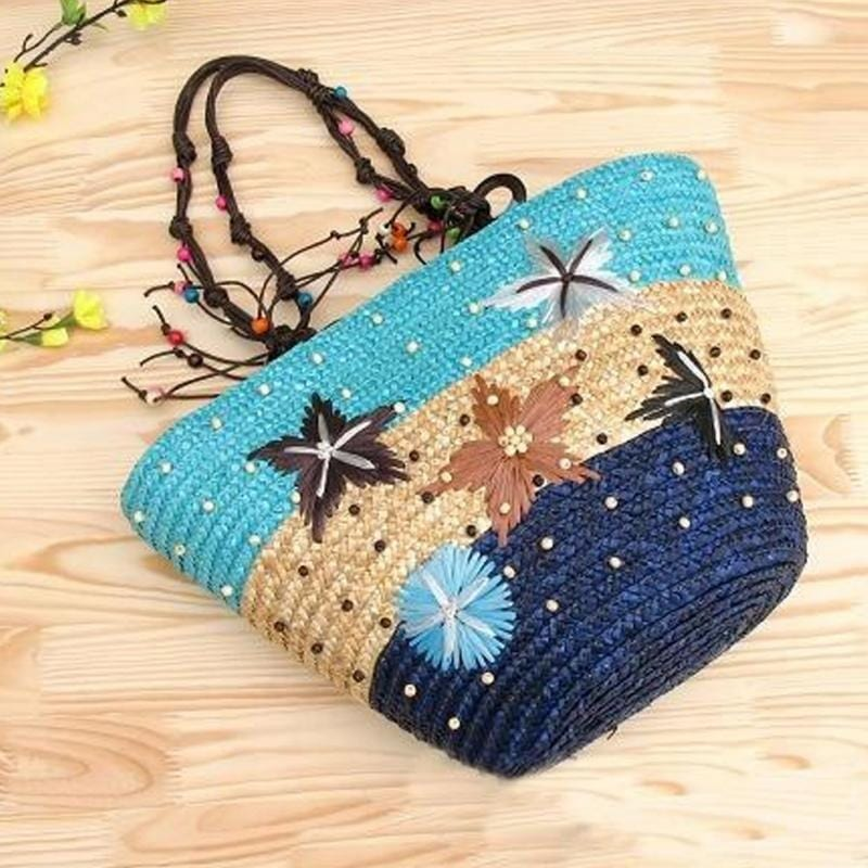How many party woven beach bag