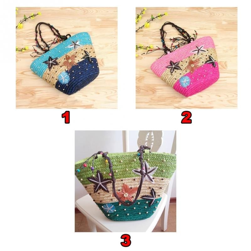 How long holiday woven bag top