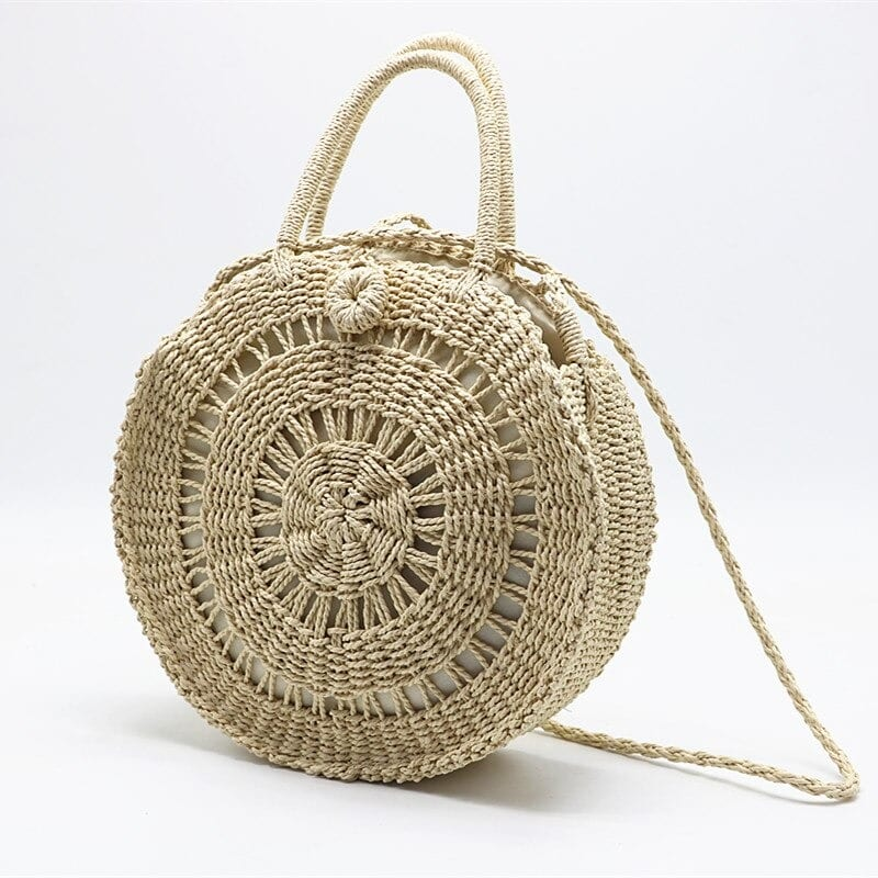 How much straw bag with leather handles and clutches