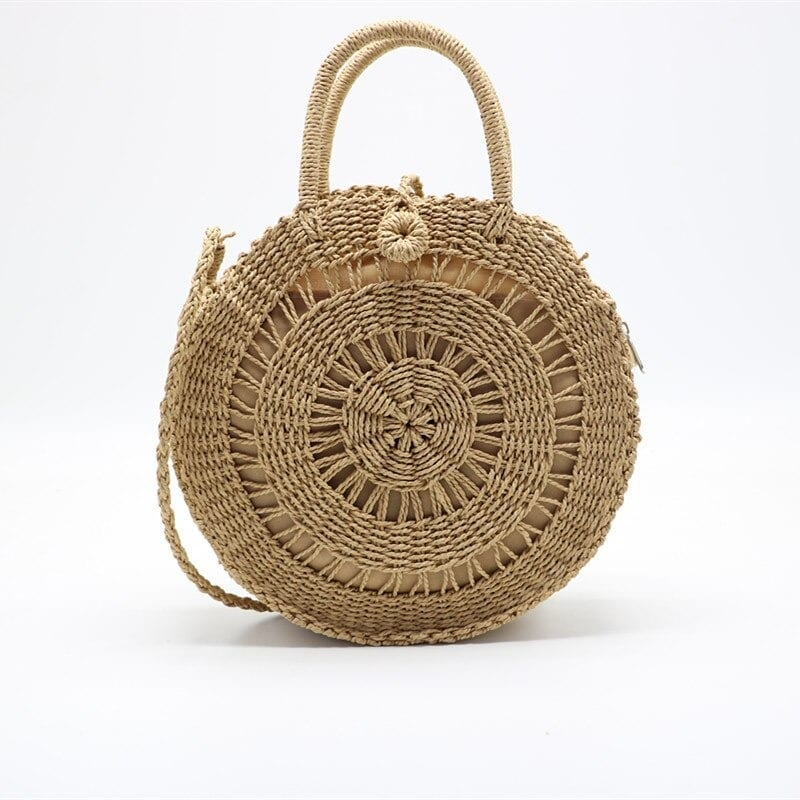 Custom straw bag with leather handles value