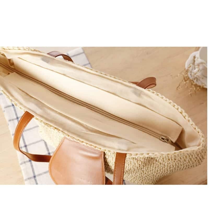 Which hard straw woven bag