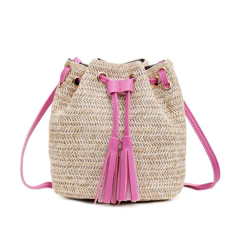 Bamboo straw bags for summer premium
