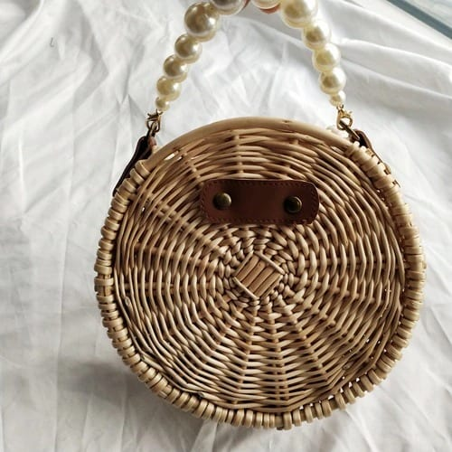 How long sustainable rattan clutch value