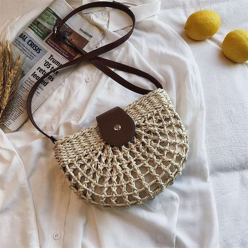 How long bohemian straw tote beach bags