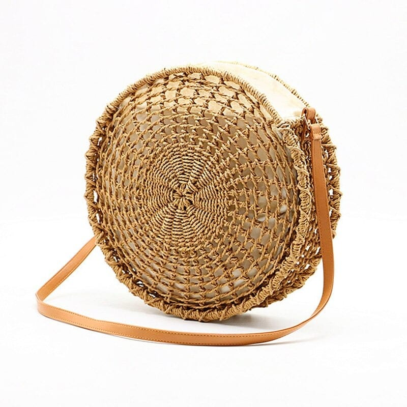 How long round straw purse leather handles good