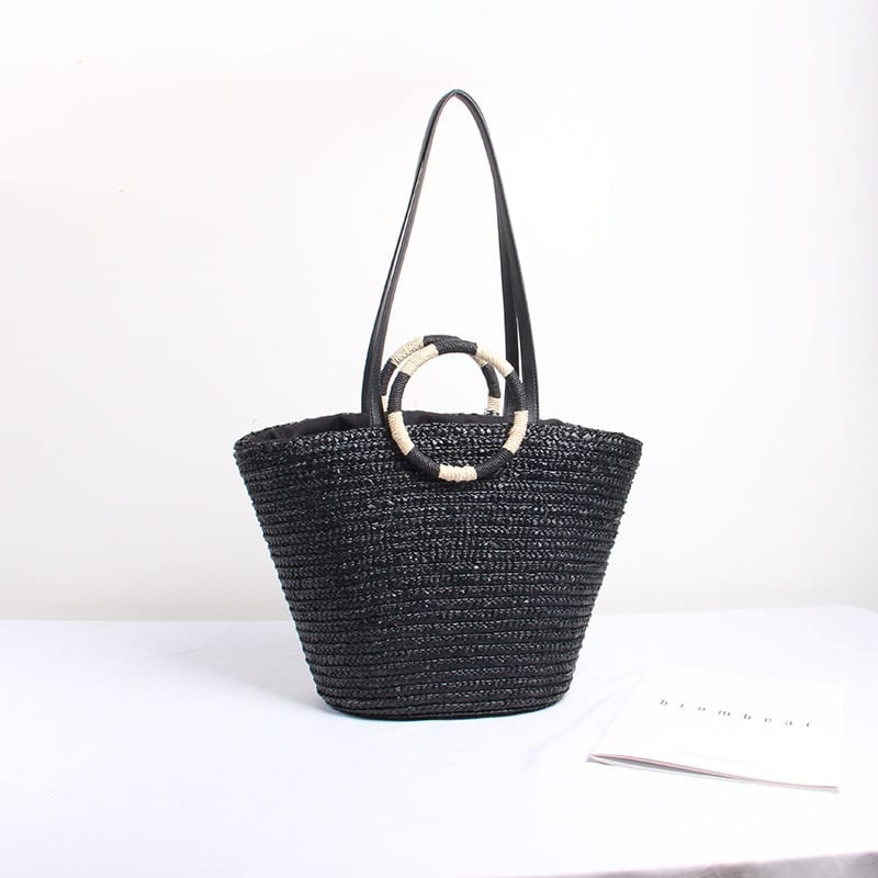Wicker handbags for spring