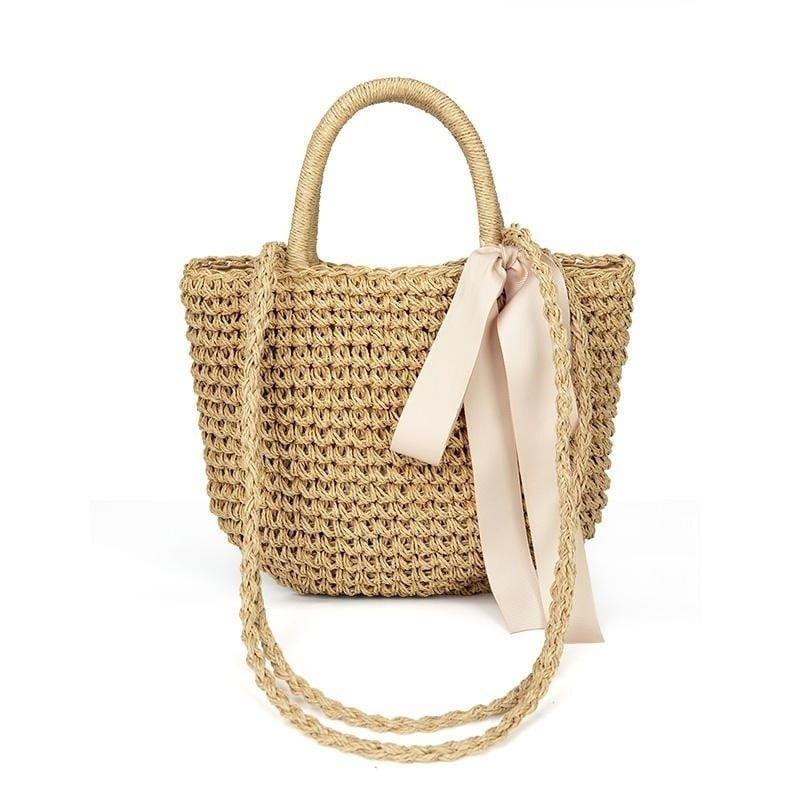 Brown wicker tote bag better