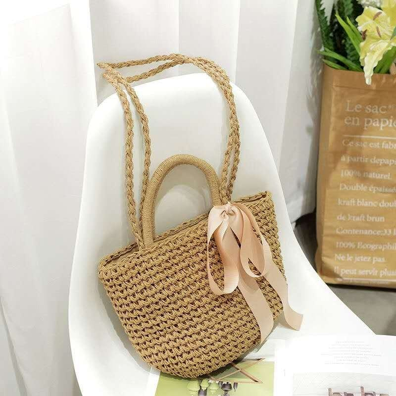 Large straw totes on sale good