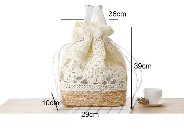 How beige straw and leather handbag suggest