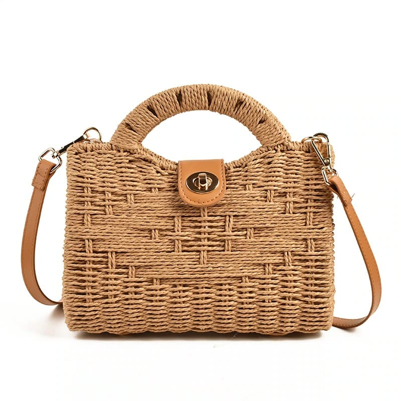 Wicker tote bags on sale quality
