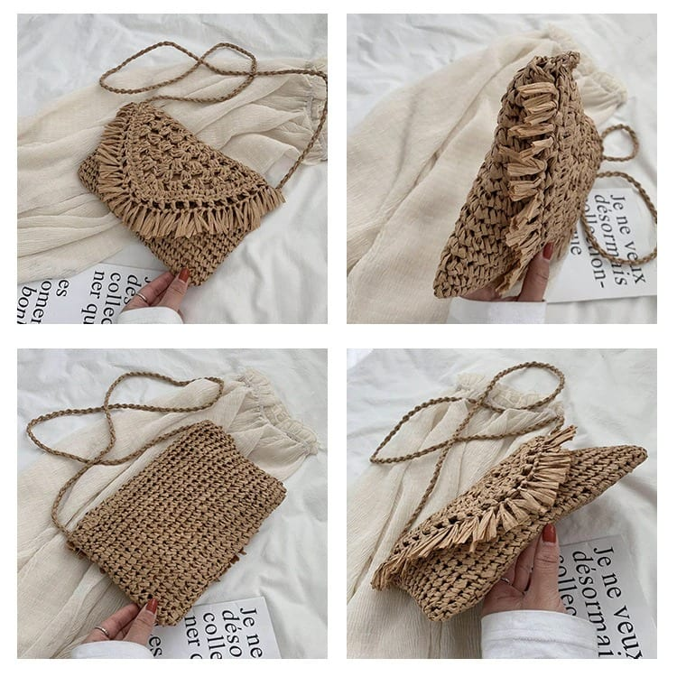 Which straw clutch bags and totes good