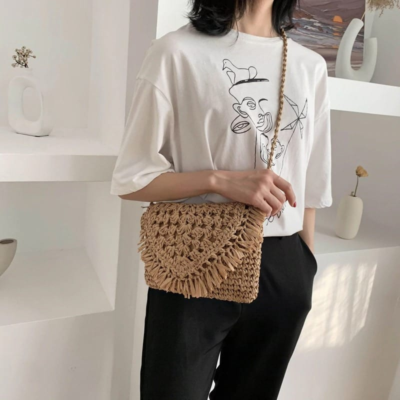 Handicraft rattan tote bags recomment