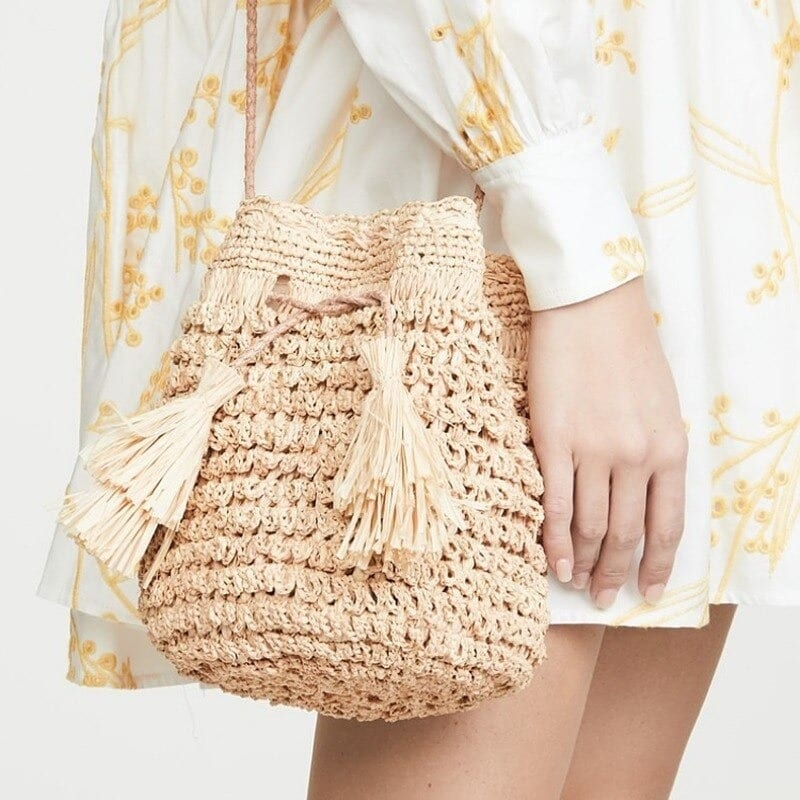 Colorful woven leather bags good