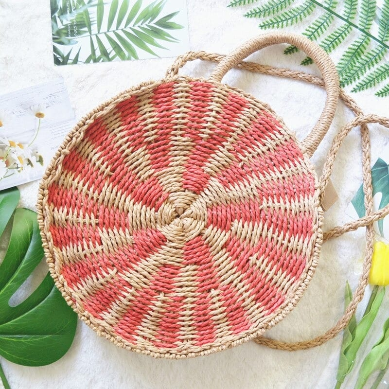 How sustainable woven crossbody bag