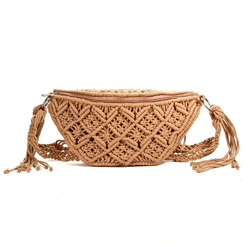 How bahamian rattan crossbody bag