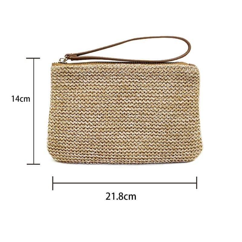 Evening small straw bag