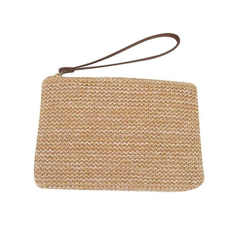 Brown straw clutch better