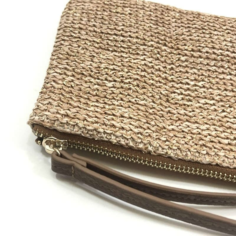 Straw woven bag with zipper recomment