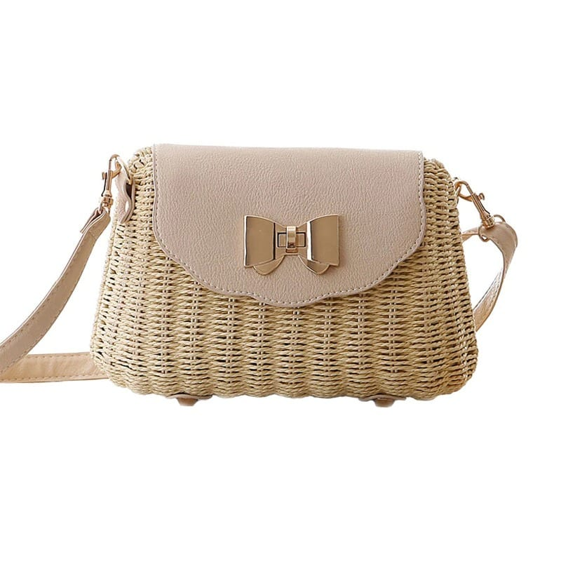 Soft straw and leather handbag better